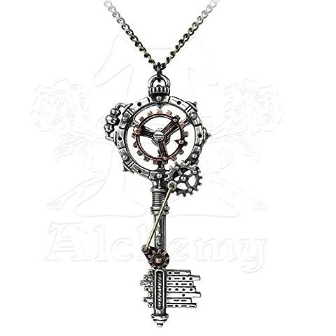 Alchemy Empire Steampunk Pendant Septagramic Key