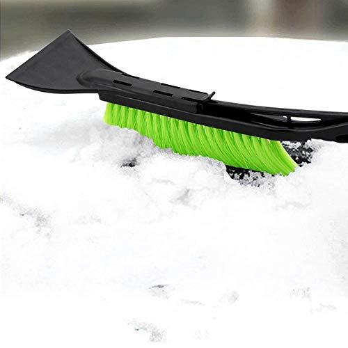 Festnight Pala da neve per ghiaccio Parabrezza per auto Rimozione della neve da ghiaccio Raschietto per il ghiaccio Spazzola da neve Sbrinamento e sbrinamento per auto Forniture per la pulizia Nero