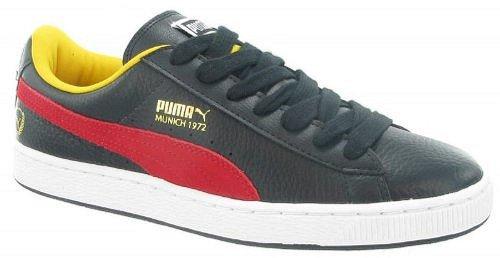 Puma  Basket Classic Games MEX, baskets sportives mixte adulte noir/rouge