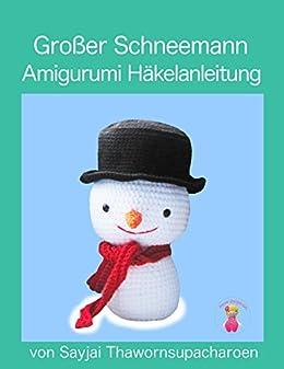 Schneemann häkeln im Amigurumi-Stil - kostenlose Anleitung - Talu.de | 337x260