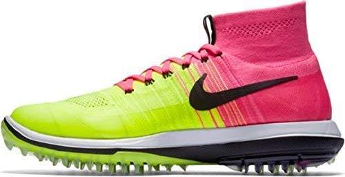 Nike Herren Flyknit Elite Golfschuhe Rosa (Pink Blast/Black-Volt-White) 46 EU