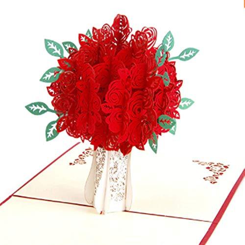 Geburtstagskarte zum Muttertag, Rosen, Ostern, Geburtstag, Get Well (englischsprachig), 15 x 15 cm