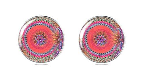 tizi Schmuck 925Sterling Silber Ohrring Ohrstecker 12mm Handgefertigt in Baby Rosa Farbe Damen und Mädchen Perfekte Geschenk oder für (Australien Kostüm Schmuck)