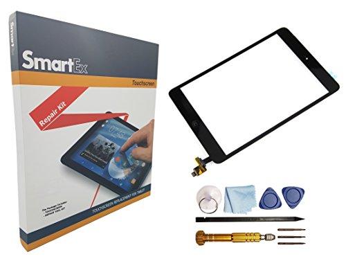 Smartex | Display Glas Digitizer Marke kompatibel mit iPad Mini 2 Schwarz/Touch Screen Digitizer und Home Button/Werkzeugset inklusiv -