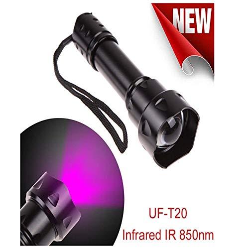 Ir38Mm Linse Infrarot - Nachtsicht - Led - Taschenlampe Skalierbare - Nachtsichtgeräte (Infrarot - Unsichtbare Auge), Enthält Keine Batterien,Schwarz