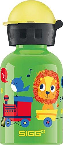 SIGG Jungle Train, Kinder Trinkflasche, 0.3 L, Auslaufsicher, BPA Frei, Aluminium, Grün