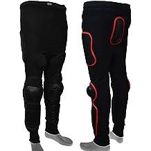 AQWA Body Armour esquiaba patinage Snowboards Motocross Motocicleta Protección Pantalones, negro, XL