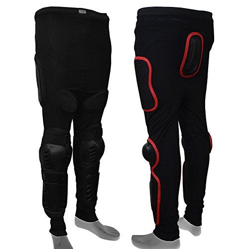 Aqwa Body Armour Skifahren Skating Snowboards Motocross Motorrad Schutz Hose, schwarz / rot, S