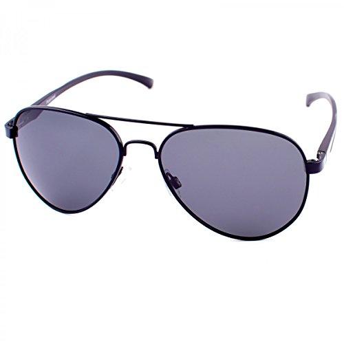 BEZLIT Herren Alu Sonnenbrille Polarisierend Piloten Fram Schwarz
