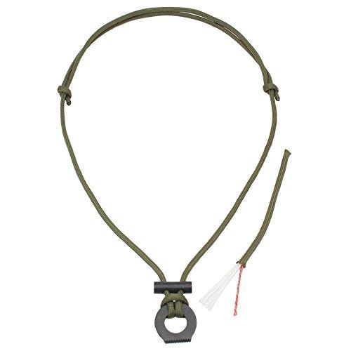 PSKOOK Collier de Paracorde avec Allume-Feu Ligne de Pêche