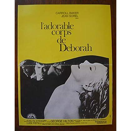 Dossier de presse de L'adorable corps de Deborah (1969) – 31x47cm - Film de Romolo Guerrieri avec C Baker, J Sorel – Photos N&B – résumé scénario – Bon état.