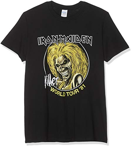 Iron Maiden Officially Licensed - Killer World Tour Vintage T-Shirt T Shirt (X-Large) - Iron Maiden-killers T-shirt