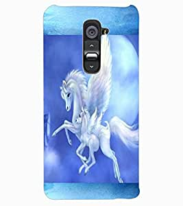 ColourCraft Flying Horse Design Back Case Cover for LG G2