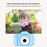 Vuffuw 8MP HD Video Digital , Mini 2 Inch Screen Sports Camera Recorder Camcorder with Soft Cover, Best for Boys Girls (Blue)