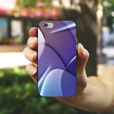 Apple iPhone X Silikon Hülle Case Schutzhülle Muster Struktur Lila Silikon Case schwarz / weiß