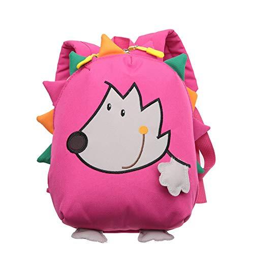 Kinder Schultasche Cartoon Igel Kinder Rucksack Anti-verlorene modische Buch Tasche lunchpaket für Kleinkind Vorschule Kinder(Pink)