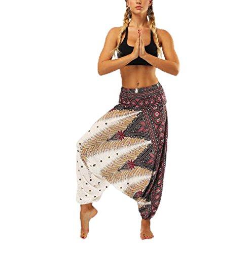 Fallschirm Harem Pants – Thai Cargo Boho Hippie Hose Baggy Yoga Ballon lose Zigeuner Aladdin Bloomer Hosen Kleidung für Frauen Männer