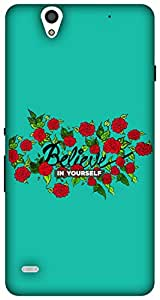 The Racoon Lean Believe hard plastic printed back case for Sony Xperia C4