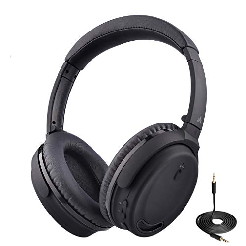 Avantree ANC032 Bluetooth 4.1 Cuffie con Cancellazione del Rumori e Microfono, senza fili o con filo, super leggere e confortevoli, ripiegabili, Cuffia per PC TV Telefoni, Riduzione del rumore