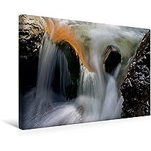 Calvendo Premium Textil-Leinwand 45 cm x 30 cm Quer, Ein Motiv aus Dem Kalender Kuhflucht Wasserfälle bei Farchant | Wandbild, Bild auf Keilrahmen, Fertigbild Leinwand, Leinwanddruck Natur Natur