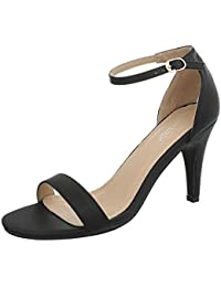 Ital-Design High Heel Sandaletten Damenschuhe Pfennig-/Stilettoabsatz Heels Schnalle Sandalen &