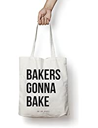 Bakers Gonna Bake Tote Bag| Canvas| Fashion| Eco Friendly| Shoulder Bag| For Gym Beach Shopping College| The Art...