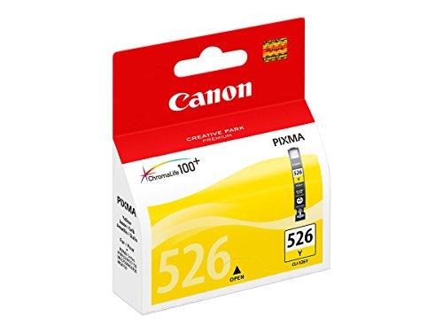 Canon CLI-526 Y original Tintenpatrone  Amarillo für Pixma Inkjet Drucker MX715-MX885-MX895-MG5150-MG5250-MG5350-MG6150-MG6250-MG8150-MG8250-iP4850-iP4950-iX6550