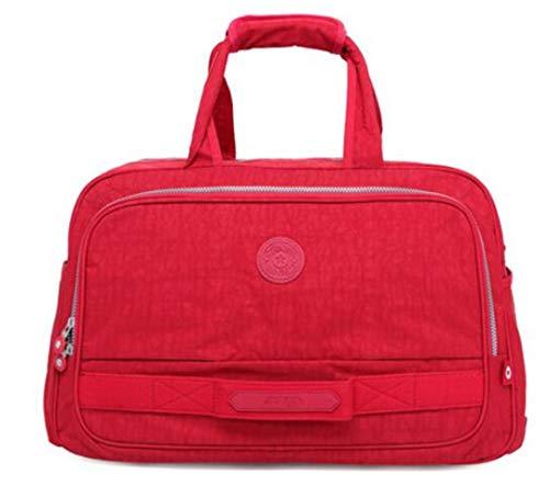 Männer Reisetasche Nylon Solide Unisex Große Kapazität Duffle Geschäftsreise Große Gepäck Taschen Reise Totes Frauen Black - Rosa Camouflage-duffle Tasche