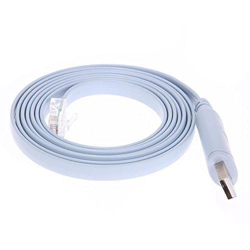Preisvergleich Produktbild JUNERAIN RJ45 Kabel USB zu Serial / Rs232 Konsole Rollover Kabel für Cisco Route
