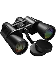 Jumelles Longue Vue 10x50 Pictek Binoculaire BAK Prism Zoom Vision Claire Haute Définition Haute Résolution avec Lanière & Sac Jumelles Observation d'Oiseaux, Concerts, Chasse, Randonnée