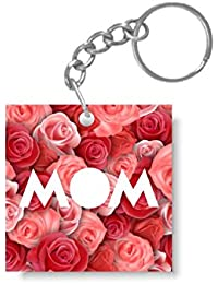 YaYa Cafe Mothers Day Gifts Red Rose Mom Keychain Keyring For Mom