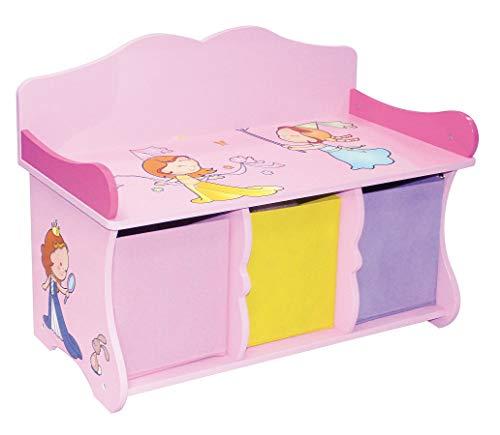 Liberty House Toys-Panchina con 3 cassetti, Legno, Multicolore