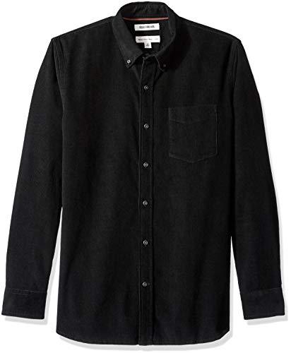 Goodthreads camicia a maniche lunghe in velluto a coste standard fit uomo