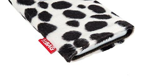fitBAG Bonga Snow Leopard - housse pochette pour téléphone portable en imitation fourrure intérieur en microfibres pour Apple iPhone 6 Plus / iPhone 6S Plus 5.5 inch avec Apple Leather Case Bonga Dalmatien