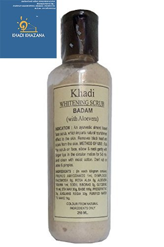khadi Whitening Scrub Badam (With Alovera) 210 ml