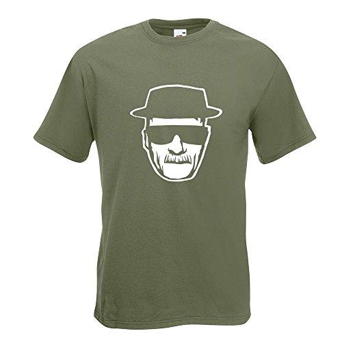KIWISTAR - Methylamphetamin T-Shirt in 15 verschiedenen Farben - Herren Funshirt bedruckt Design Sprüche Spruch Motive Oberteil Baumwolle Print Größe S M L XL XXL Olive