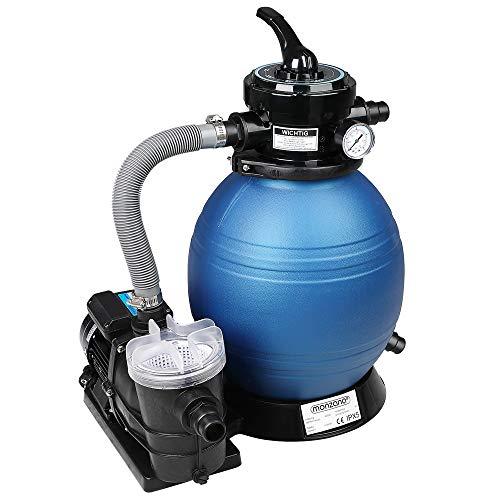 Monzana Filteranlage Sandfilteranlage 9,6 m³ mit Vorfilter -Poolfilter Filterkessel Sandfilter