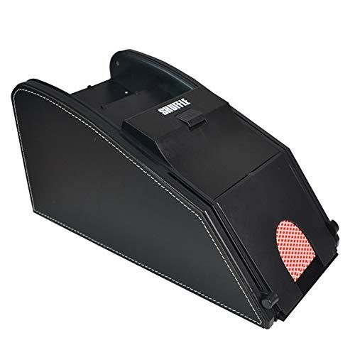 LSCZQ 2 in 1 vielseitiger elektrischer automatischer Kartenmischer-Lizenzierungsmaschine, Qualitäts-umweltfreundliches Plastik- und Ledergewebe, batteriebetrieben, ruhig bedienungsfreundlich