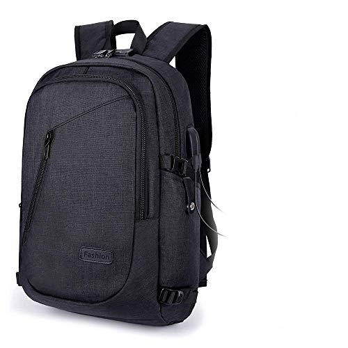 Fomobest Rucksack Herren Laptoprucksack Wasserdicht Daypack mit Passwortsperre/Ladeanschluss Sport/Campus/Arbeit/Schule/Reiserucksack Schultasche Tagestasche