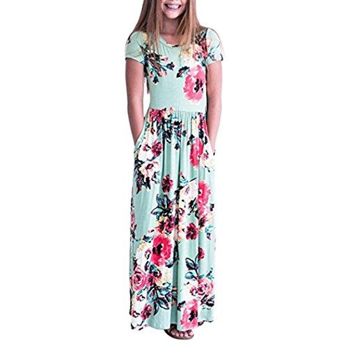 Mode Kleinkind Baby Mädchen Kind Blumendruck Prinzessin Party Kleid Outfits Kleidung
