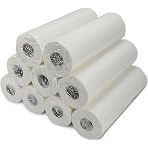 VIDIMA Ärztekrepp 55 cm x 50m, 2-lagig in verschiedenen Mengen | hochwertig weiße Liegenabdeckung zur Hygiene | doppelschichtige & perforierte Papierrolle mit 132 Abrissen | ideal für Krankenhäuser