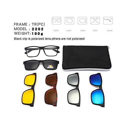 FGRYGF-eyewear2 Sport-Sonnenbrillen, Vintage Sonnenbrillen, Square Retro Clip On Sunglasses Männer Polarized WoMänner Magnetic Night Vision Optical Frame Set 5+1 Sun Glasses NEW Lunettes Oculos 2