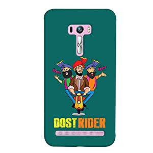 ColourCrust Asus Zenfone Selfie ZD551KL Mobile Phone Back Cover With Dost Rider Quirky - Durable Matte Finish Hard Plastic Slim Case