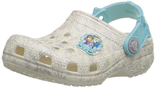 Crocs Classic Frozen Clog K, Sandales Bout fermé fille Bianco (Oys)
