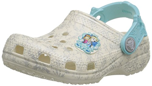Crocs classic frozen clog k sandali a punta chiusa, bambine e ragazze, bianco (oys), 19-21