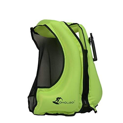 OMOUBOI Portable Gilet Gonfiabile boccaglio, Portable Gilet Gonfiabile boccaglio per Immersioni in Tutta Sicurezza Unisex Adulto (40-100KG)