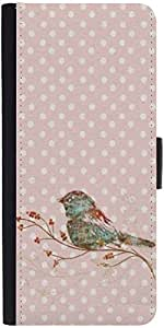 Snoogg Bird Grunge Graphic Snap On Hard Back Leather + Pc Flip Cover Samsung ...