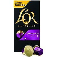 L'Or Espresso Café Sontuoso - Intensité 8 - 50 Capsules en Aluminium Compatibles avec les Machines Nespresso®* (Lot de 5X10 capsules)
