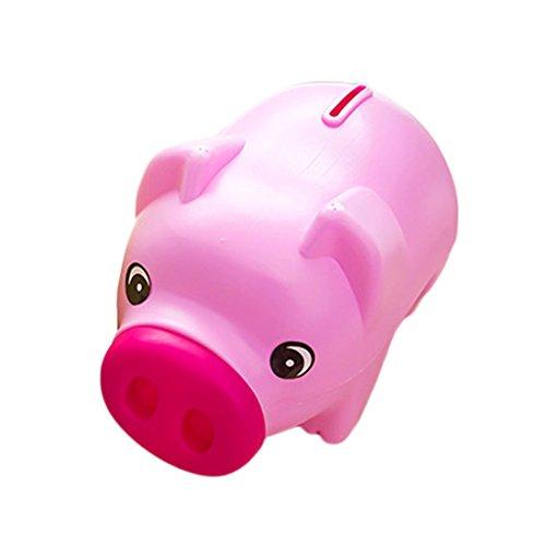 joyliveCY Cute plástico Animal Hucha Ahorro efectivo moneda caja de dinero niños regalo