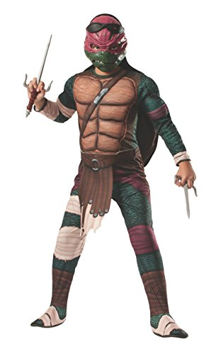 Turtles Movie Raphael Deluxe Child Kostüm (Medium) (Teenage Mutant Ninja Turtles Raphael Jumpsuit)
